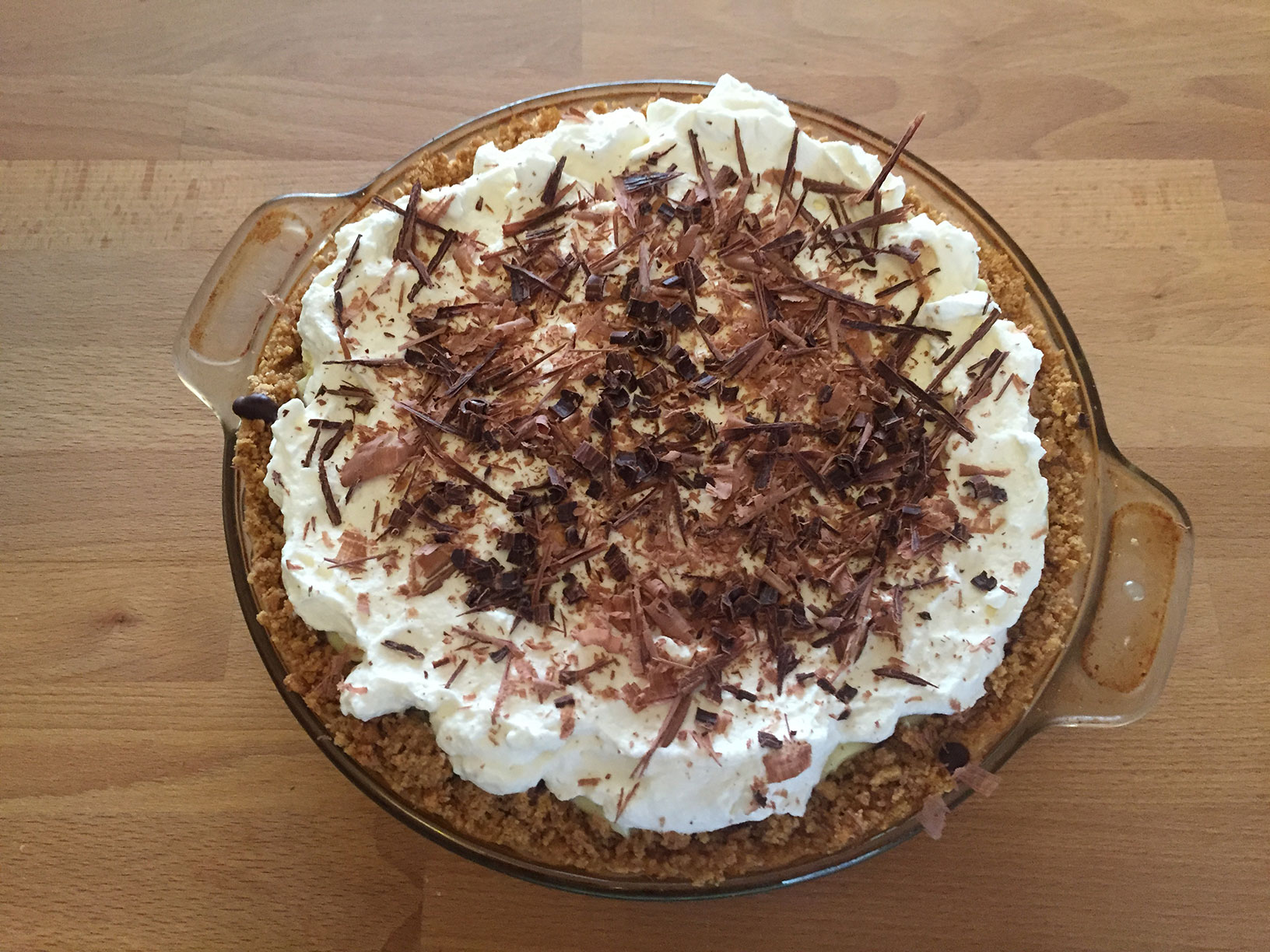 Banana cream pie, finished!